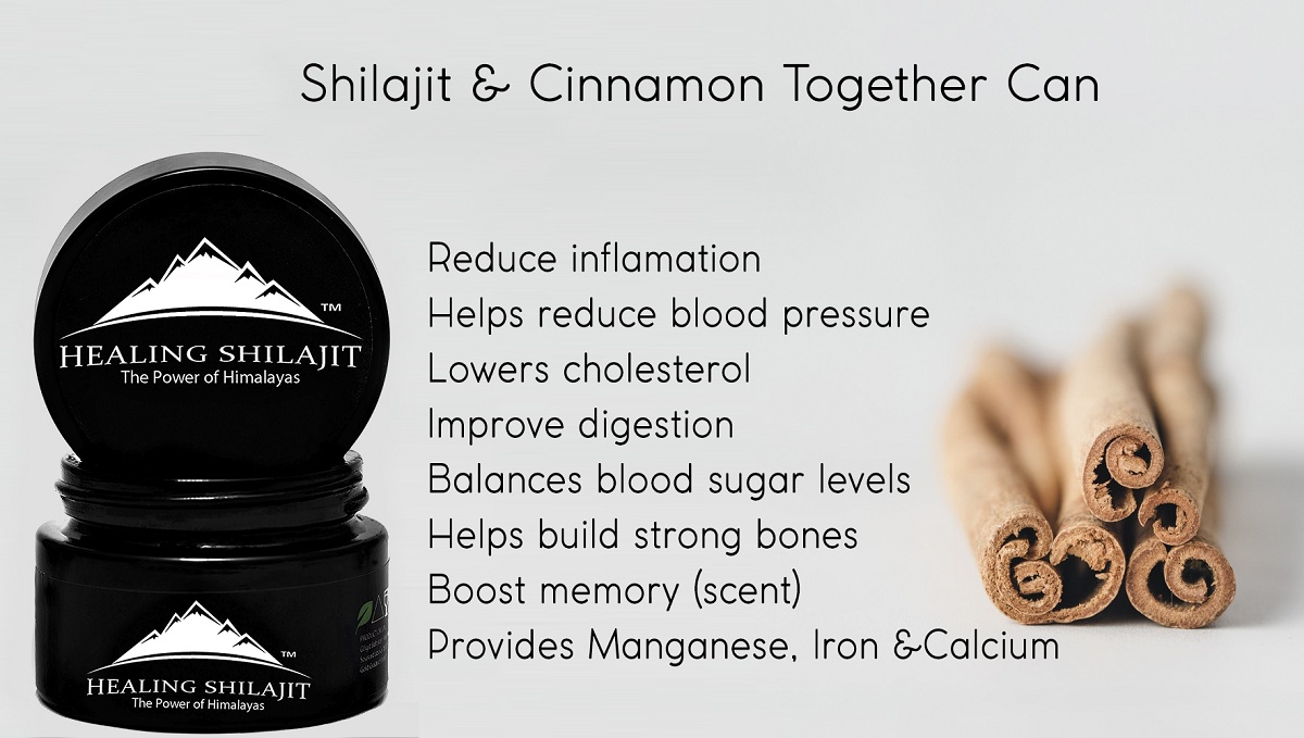 shilajit with cinnamon